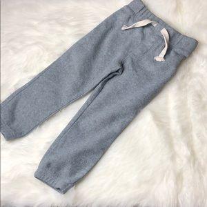 3T fleece jogger pants grey toddler boy Old Navy